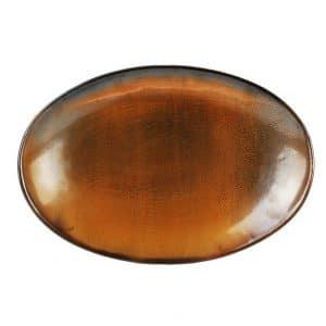 Bord Ovaal 33x22,5 Escura dark brown 604017