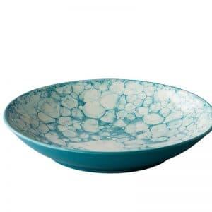 Diep Bord Turquoise 25,5cm Bubbles QU90101
