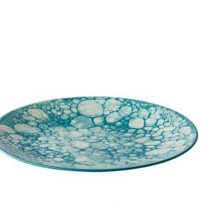 Bord Turquoise Ø27,5 Bubbles