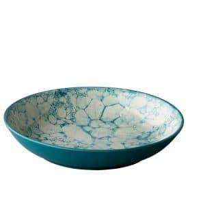 Diep Bord Turquoise 21cm Bubbles QU90102