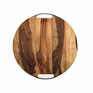 Rose Wood Plank houten planks erveerplank Rond 2 Metalen Handvatten 39 Cm RS1539 39.95 2 W