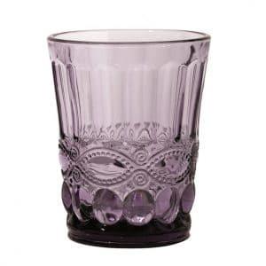 Horecaglaswerk voor cocktails en water. Tumbler solange Paars met een kleurtje