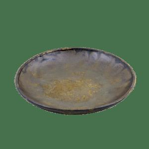Bord 20cm in een bruinige tint, diep bord Hand made keramiek
