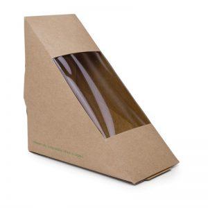 Composteerbare kraft sandwichboxen Vegware Composteerbare Kraft Sandwichboxen 2