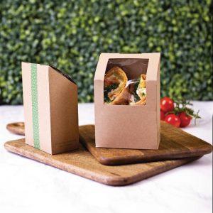 Composteerbare Tortilladozen Met PLA Venster