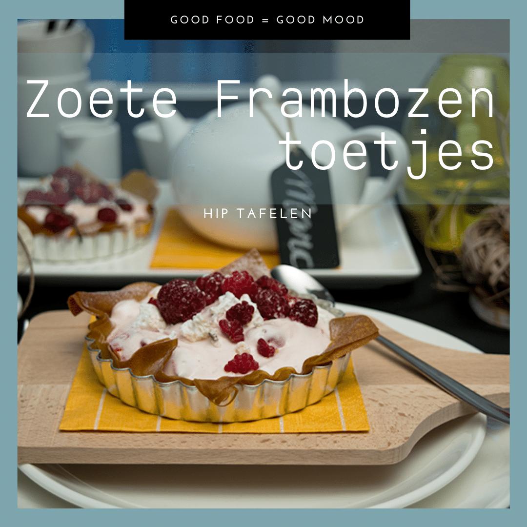 Zoete Frambozen Toetjes, HIP Tafelen Nagerecht Tip Website