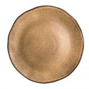 groot bord 31,5 cm, bruin serviesgoed, stoneware, horeca servies