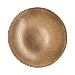 coupe bord diep, stone brown, horeca servies