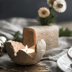 kerstmis workshop keramiek , theelichten, servetringen, gedekte tafel