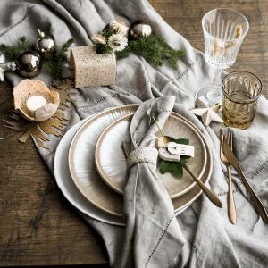 Kerst workshop keramiek,gedekte tafel theelicht