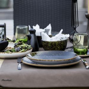 Zwart - groen gedekte tafel, tafelstyling, gedekte tafel