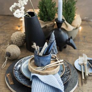 Gedekte tafel, Tafelstyling, Nova Blauw Kerststyling 2020 DSC 0175