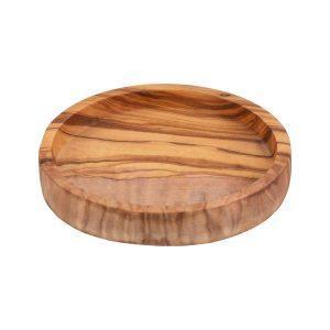 Olijfhouten Schaal Laag 12 Cm O2814, schaaltje, olijfhout, olijvenhout