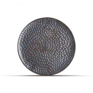 Plat bord 20cm gehamerd silver Brass, Bord gehamerd