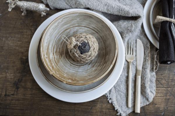 ecru kersttafel Escura Servies Landelijke Stijl Kersttafel Styling HIP Tafelen