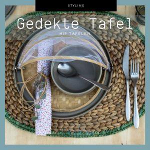 gedekte Voorjaarstafel tips, tafelstyling, serviesgoed