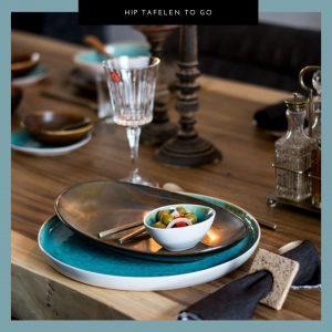 Hip tafelen to go, serviesgoed, tafelstyling, gedekte tafel,