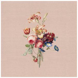 Servet paintes flowers, katoen, gedekete tafel, tafelstyling