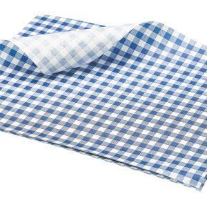 Blauw Wit Vetvrij Papier Vetvrij Papier Blauw Wit Geblokt, Hamburger Papier W PN1487GB