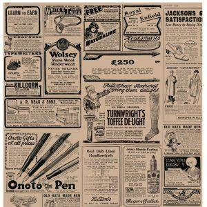 """Vetvrij papier """"Newspaper brown"""" 34x28cm 30vellen"""