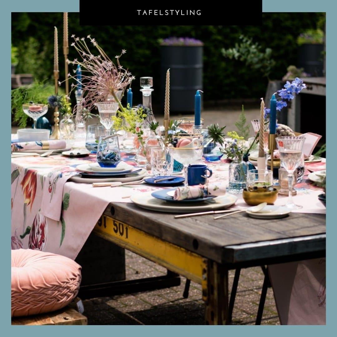 Summer table, tafel styling, gedekte tafel, stylst, exepert